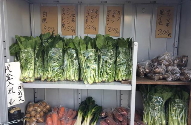 野菜の無人販売所