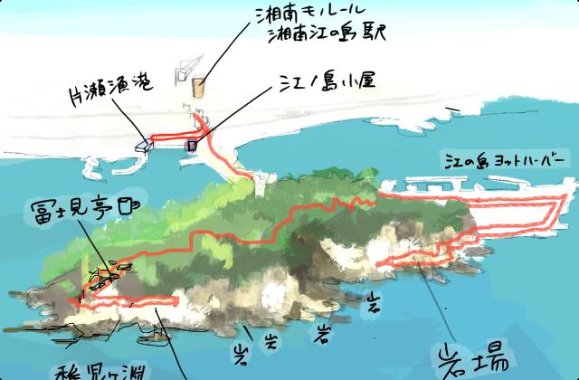 江の島コースは朝ごはんで運試し。イワイワアイランドで岩を愛でるdeラーン